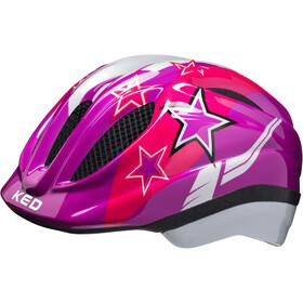 KED Meggy Helmet Kids violet stars